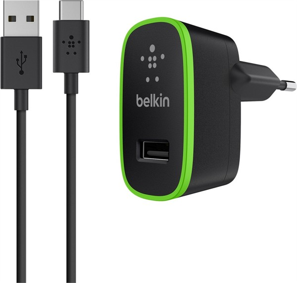 Belkin Wall Charger 2.1A With Usb-C To Usb-A Cable 1.8M Black