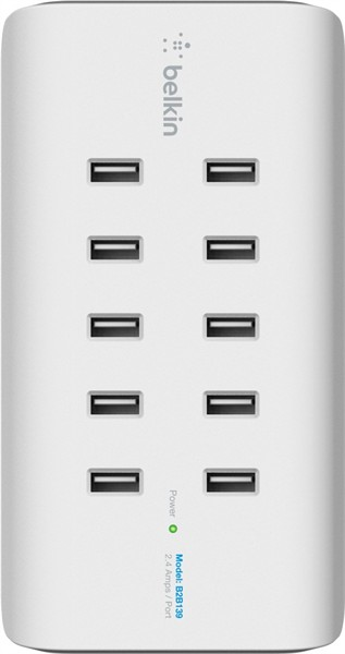 Belkin Rockstar 10-Port Usb Charging Station White