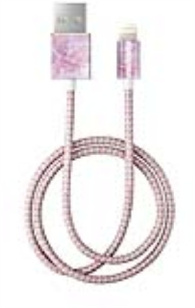 iDeal of Sweden Ideal Fashion Cable Lightning 1 M  Pilion Pink Marble