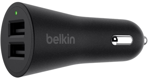 Belkin Dual Car Charger 2X2.4A Black