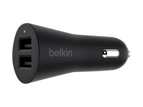 Belkin Boost Up Dual Car Charger 24W/4.8A Usb-A To Lightning Cable