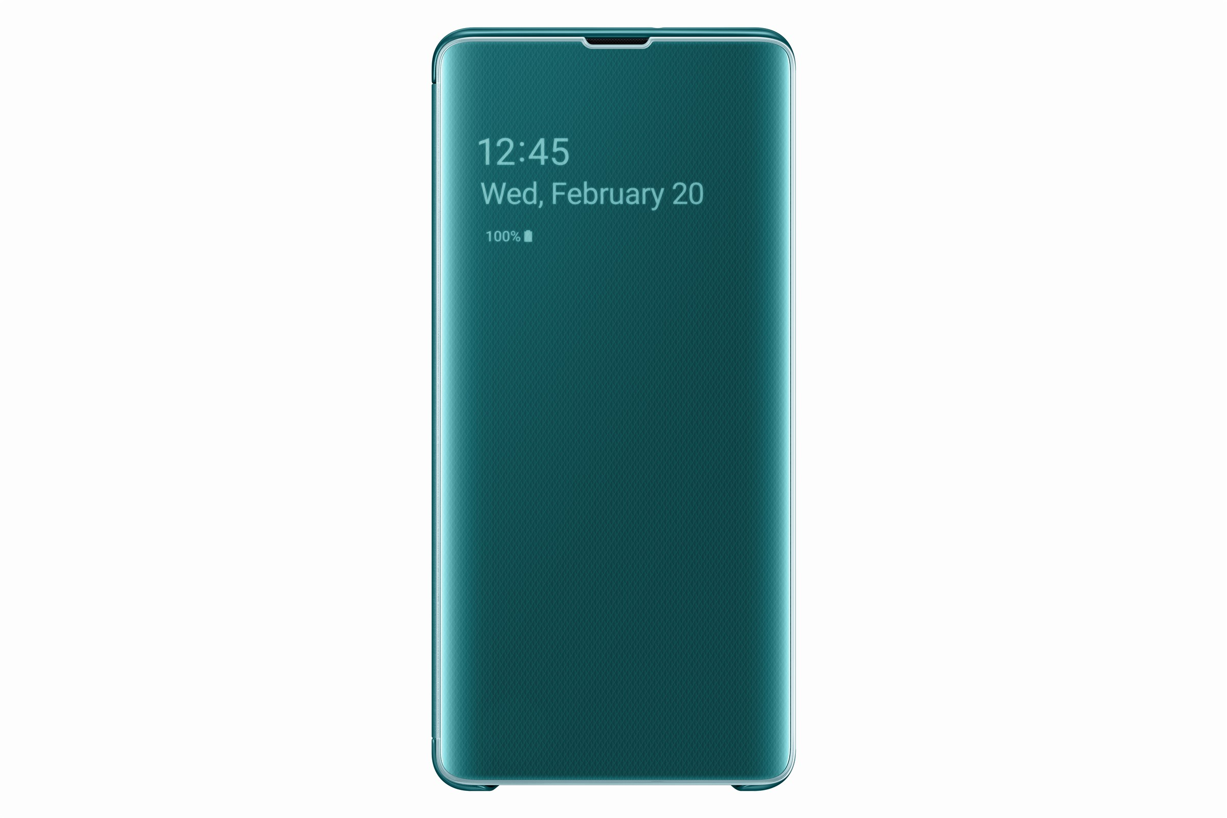 Samsung Clear View Cover Galaxy S10 Plus Green EF-ZG975CGEGWW