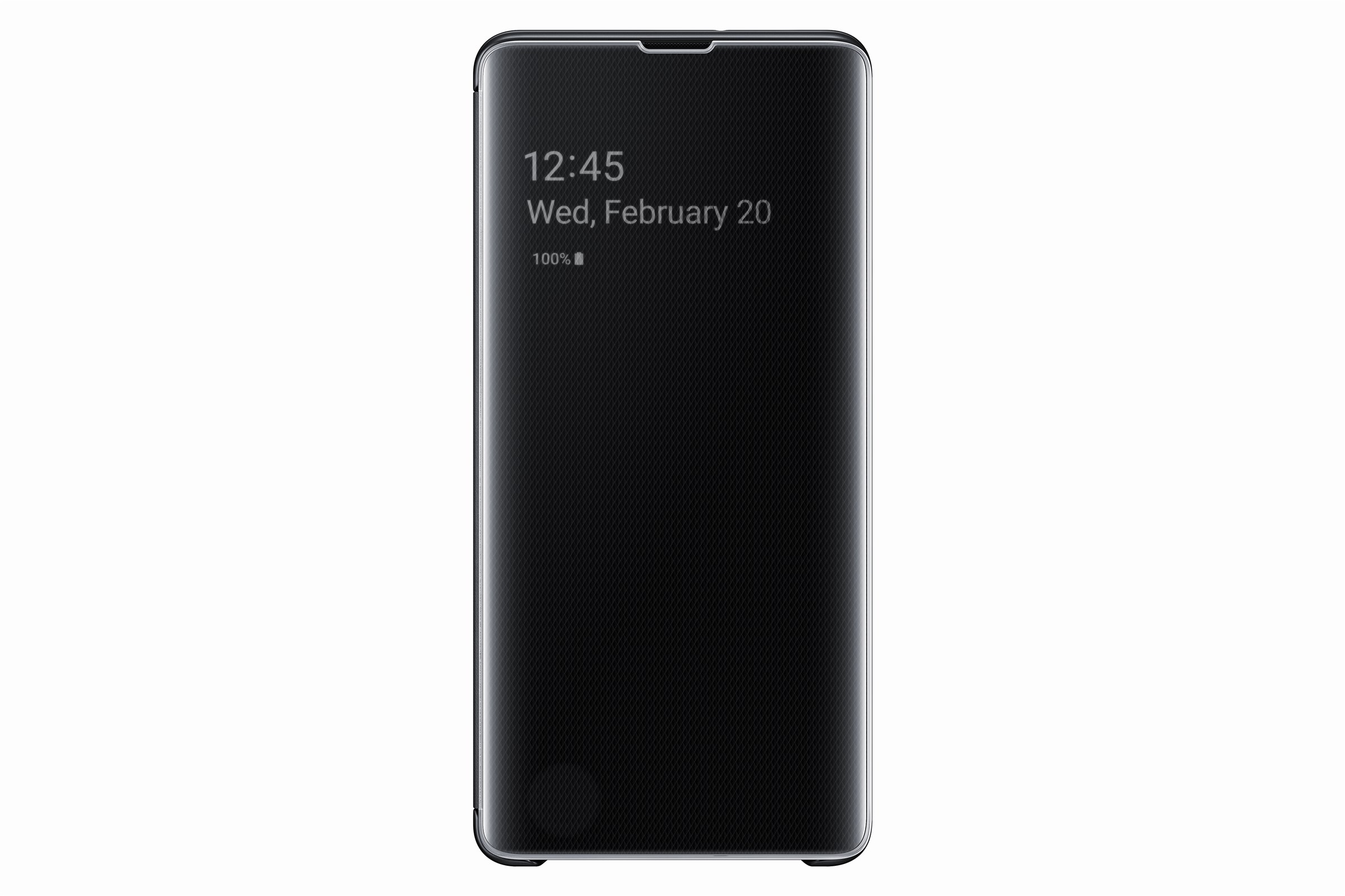 Samsung Clear View Cover Galaxy S10 Plus Black EF-ZG975CBEGWW