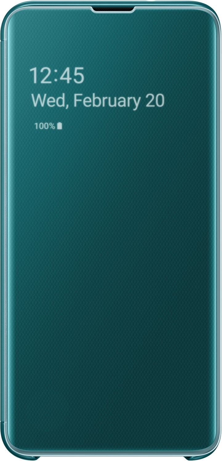 Samsung Clear View Cover Galaxy S10e Green EF-ZG970CGEGWW