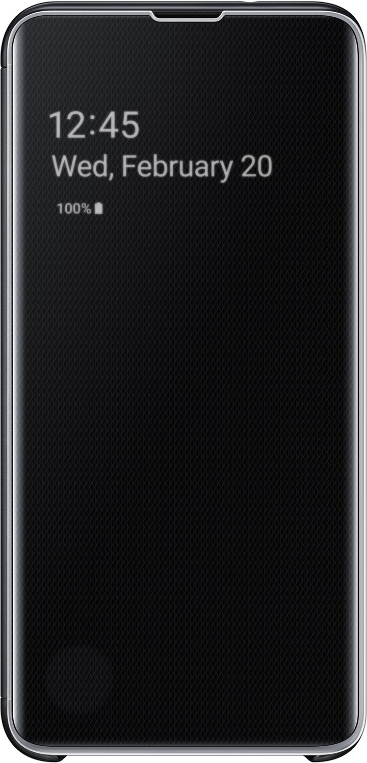 Samsung Clear View Cover Galaxy S10e Black EF-ZG970CBEGWW