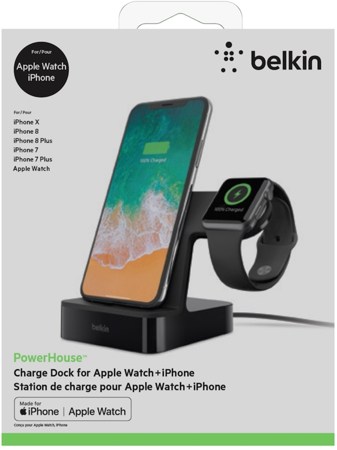 Belkin Powerhouse Charge Dock For Iphone And Apple Watch Black
