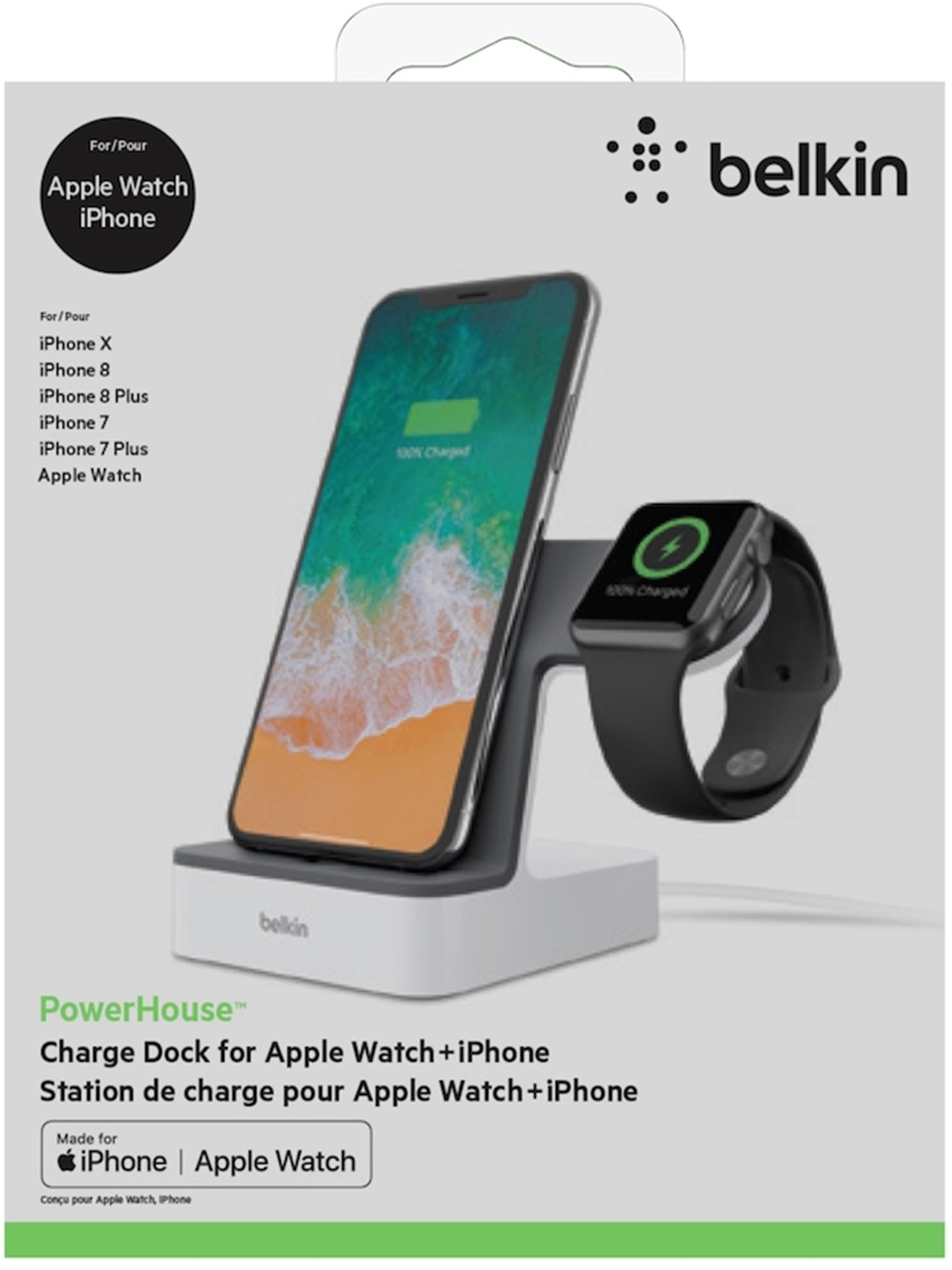Belkin Powerhouse Charge Dock For Iphone And Apple Watch White