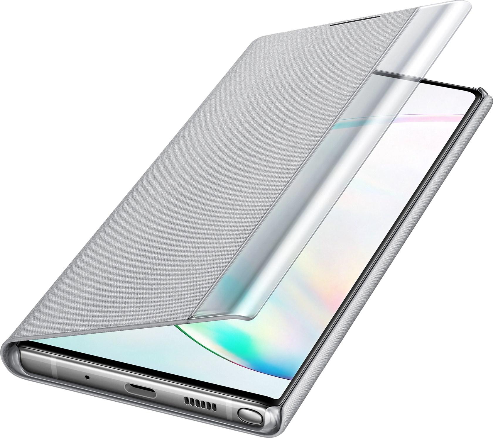 Samsung Clear View Cover Galaxy Note 10 Plus Silver Ef-Zn975csegww