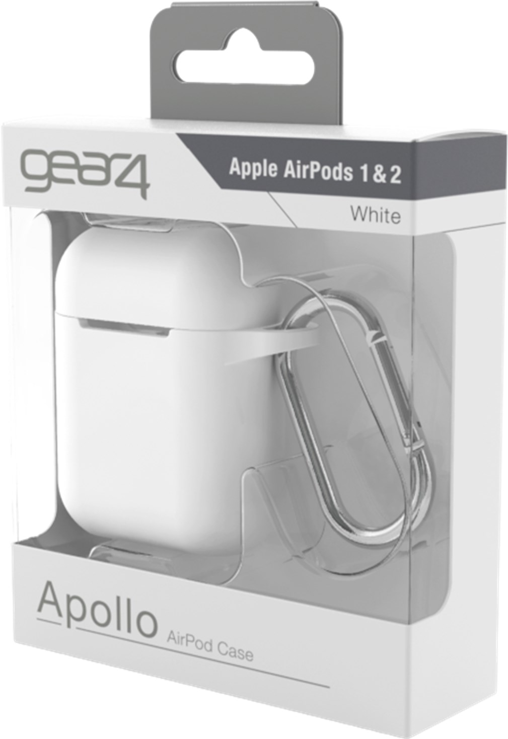 gear4 Apollo Airpods 1/2 Case White