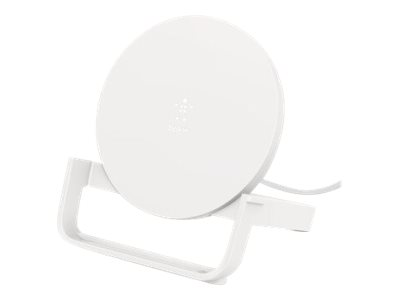 Belkin Wireless Charging Stand With Psu And Micro Usb Cable 10W Whi