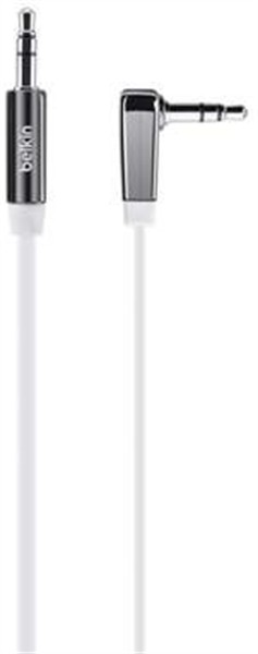 Belkin 3.5mm Flat Right Angle Aux Cable 0.9M White