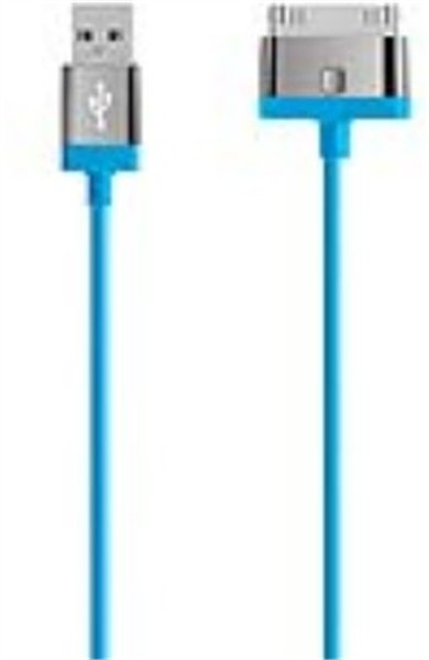 Belkin 30 Pin Charge/Sync Cable 2M Blue