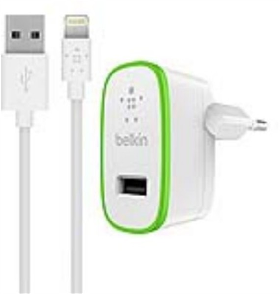 Belkin Wall Charger Lightning 2.4A Cable 1.2M White