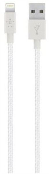 Belkin Premium Lightning Charge/Sync Cable 1.2M Pearl White