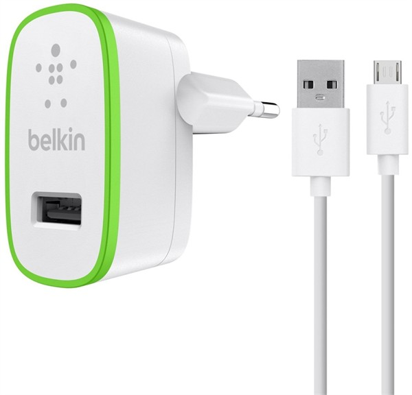 Belkin Wall Charger Micro Usb Cable 2.4A 1.2m White