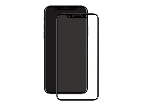 eSTUFF Titanshield iPhone 11 PRO/Xs/X Black Curved Edge