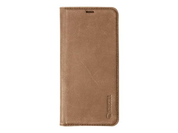 Krusell Sunne 2 Card Foliowallet Samsung Galaxy S9 Plus Vintage Cogn