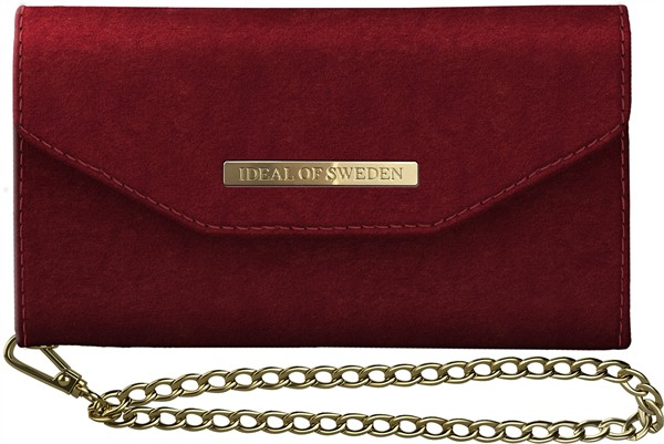 iDeal of Sweden Ideal Mayfair Clutch Velvet Iphone XR Red