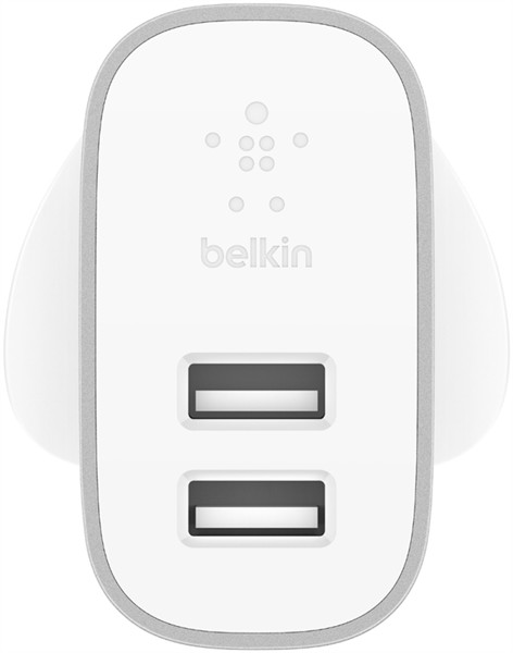 Belkin Dual Wall Charger Usb-A 2X2.4A Silver