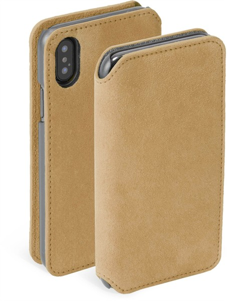 Krusell Broby 4 Card Slimwallet Iphone XS Max Cognac