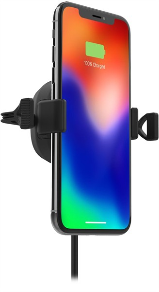 Mophie Charge Stream Wireless Charging Vent Mount Black