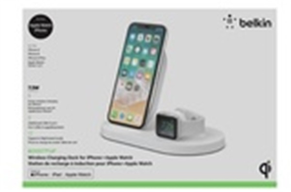 Belkin 7,5W Wireless Charge Dock For Iphone And Apple Watch White
