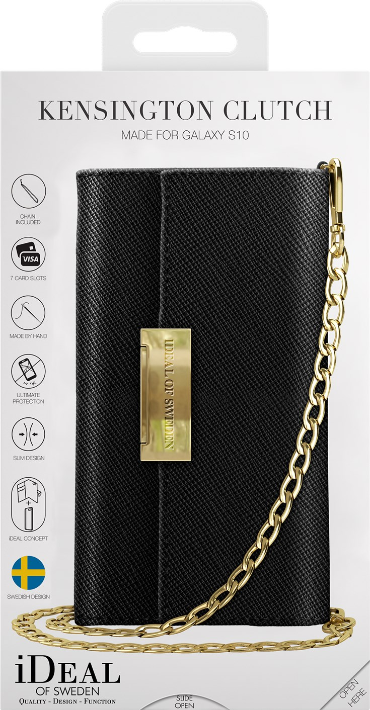iDeal of Sweden Ideal Crossbody Wallet Saffiano Samsung Galaxy S10 Black