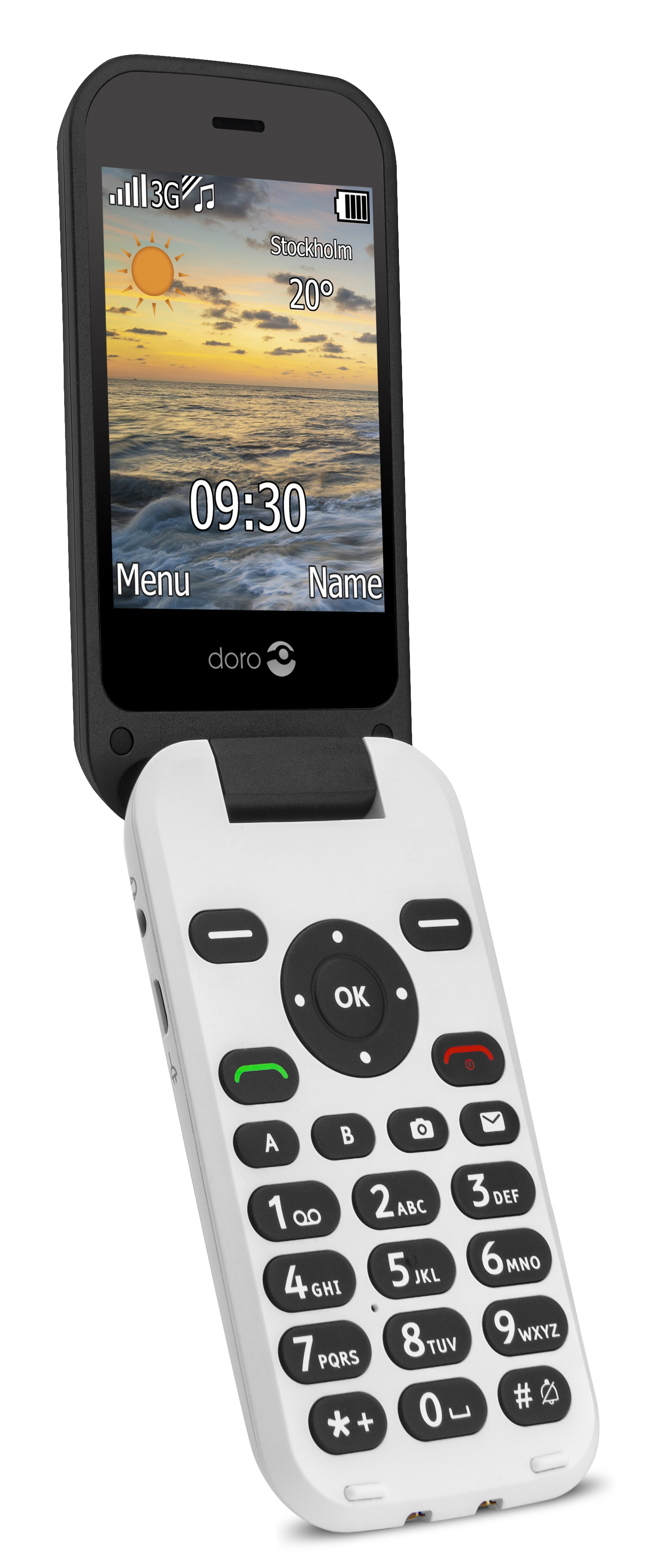 Doro 6621 Black/White