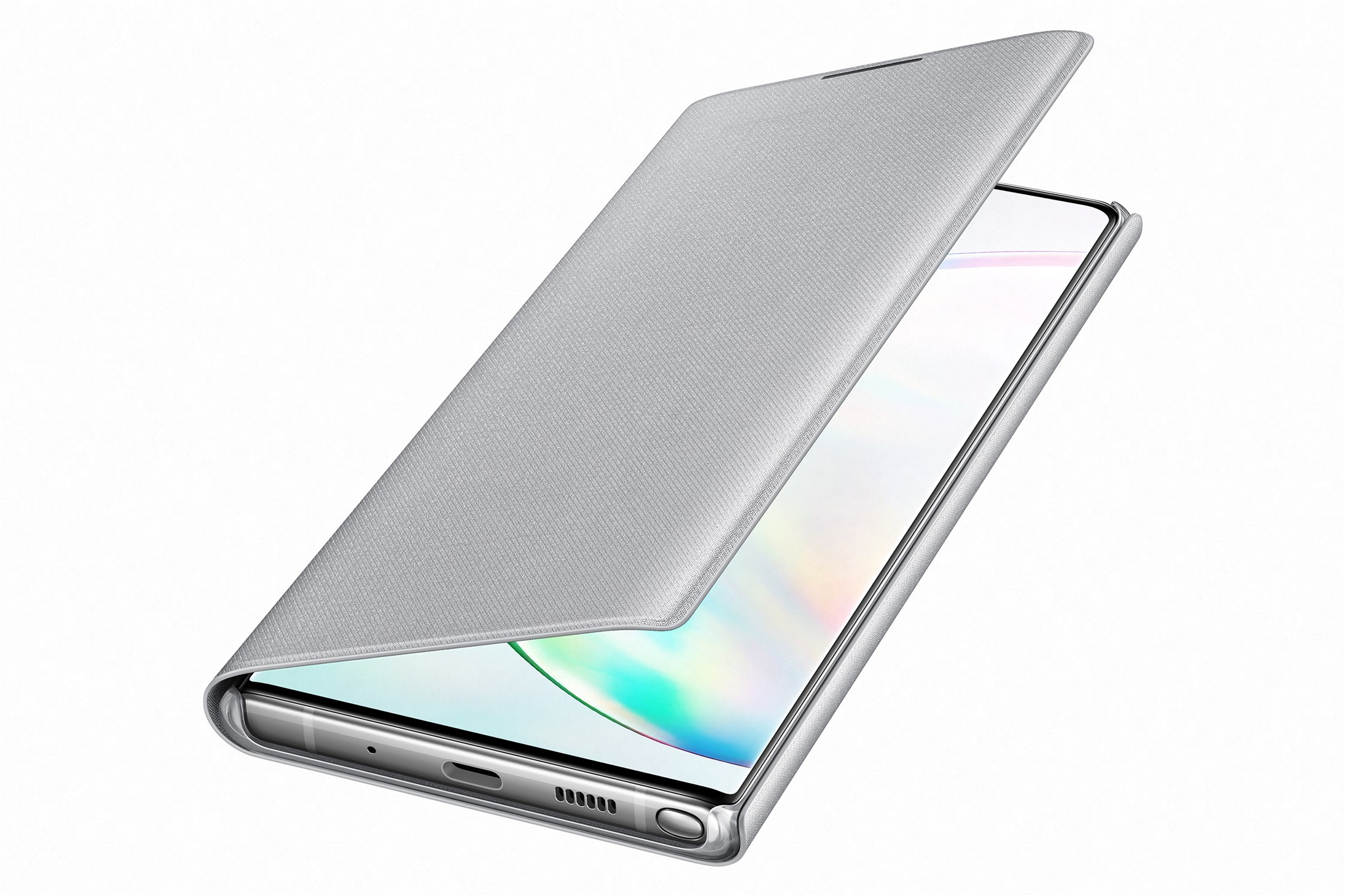 Samsung Led View Cover Galaxy Note 10 Plus Silver Ef-Nn975psegww