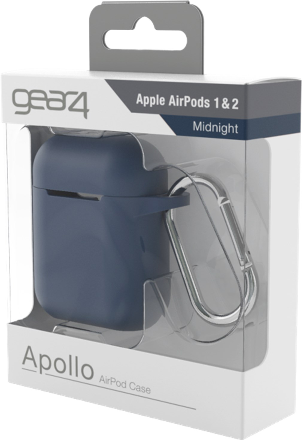 gear4 Apollo Airpods 1/2 Case Midnight