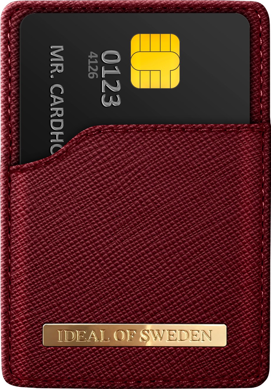 iDeal of Sweden Ideal Magnetic Card Holder Saffiano Burgundy