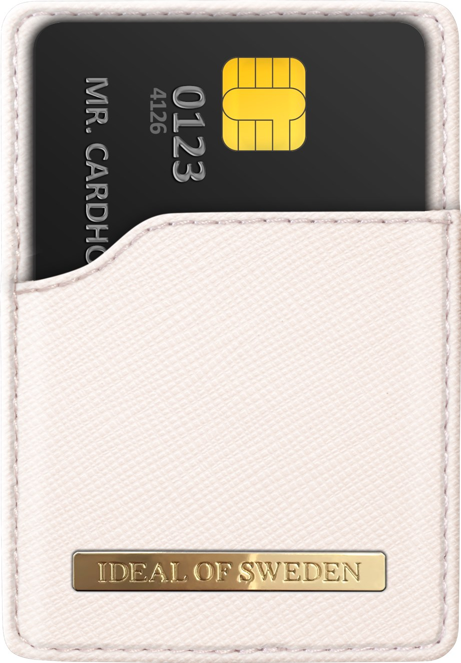 iDeal of Sweden Ideal Magnetic Card Holder Saffiano Beige