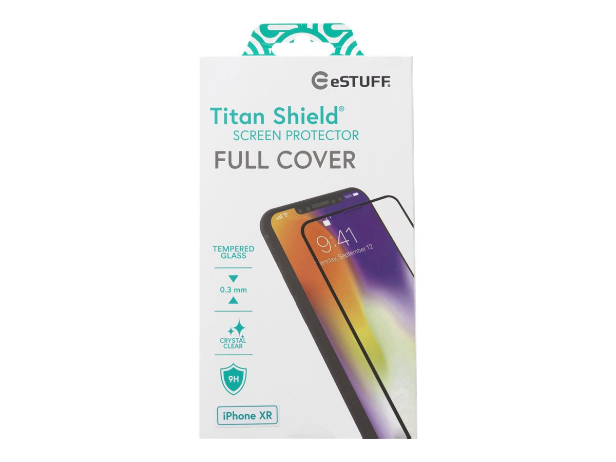 eSTUFF Titanshield iPhone 11/XR, Black Full Cover