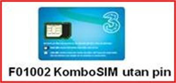 HI3G Kombo SIM Data utan PIN TRE