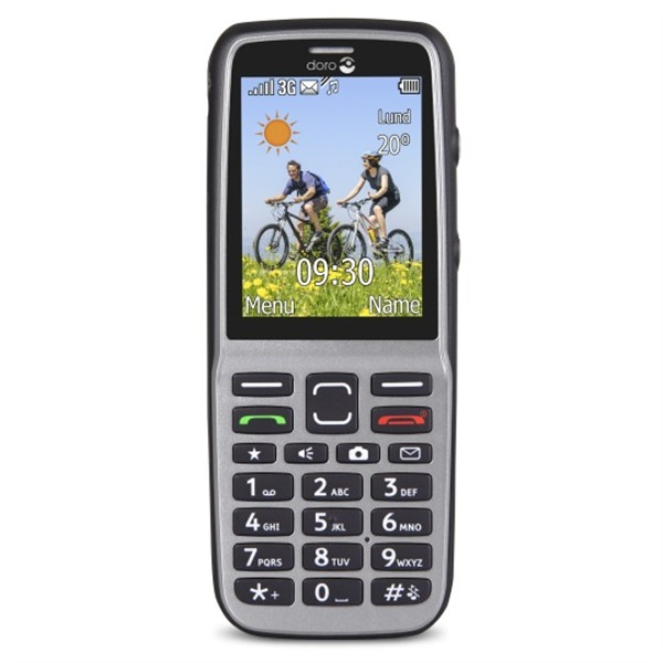 Doro PhoneEasy 530X, Steel/Black